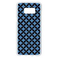 Circles3 Black Marble & Blue Colored Pencil (r) Samsung Galaxy S8 Plus White Seamless Case by trendistuff