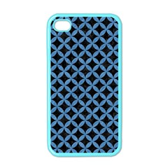 Circles3 Black Marble & Blue Colored Pencil Apple Iphone 4 Case (color) by trendistuff