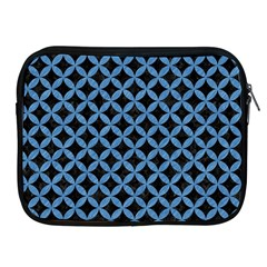 Circles3 Black Marble & Blue Colored Pencil Apple Ipad Zipper Case by trendistuff