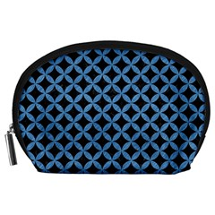 Circles3 Black Marble & Blue Colored Pencil Accessory Pouch (large) by trendistuff