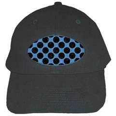 CIRCLES2 BLACK MARBLE & BLUE COLORED PENCIL (R) Black Cap