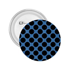 CIRCLES2 BLACK MARBLE & BLUE COLORED PENCIL (R) 2.25  Button