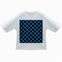 CIRCLES2 BLACK MARBLE & BLUE COLORED PENCIL (R) Infant/Toddler T-Shirt