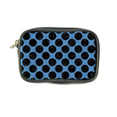 CIRCLES2 BLACK MARBLE & BLUE COLORED PENCIL (R) Coin Purse