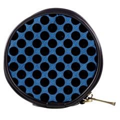 CIRCLES2 BLACK MARBLE & BLUE COLORED PENCIL (R) Mini Makeup Bag