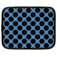 CIRCLES2 BLACK MARBLE & BLUE COLORED PENCIL (R) Netbook Case (XXL)