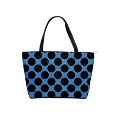 CIRCLES2 BLACK MARBLE & BLUE COLORED PENCIL (R) Classic Shoulder Handbag