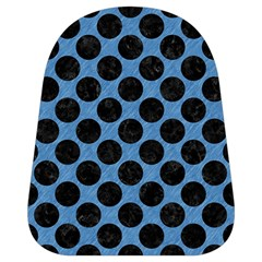 CIRCLES2 BLACK MARBLE & BLUE COLORED PENCIL (R) School Bag (Small)