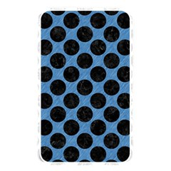 CIRCLES2 BLACK MARBLE & BLUE COLORED PENCIL (R) Memory Card Reader (Rectangular)