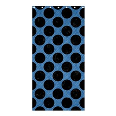 CIRCLES2 BLACK MARBLE & BLUE COLORED PENCIL (R) Shower Curtain 36  x 72  (Stall)