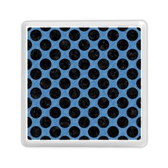 CIRCLES2 BLACK MARBLE & BLUE COLORED PENCIL (R) Memory Card Reader (Square)