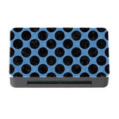 CIRCLES2 BLACK MARBLE & BLUE COLORED PENCIL (R) Memory Card Reader with CF