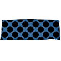CIRCLES2 BLACK MARBLE & BLUE COLORED PENCIL (R) Body Pillow Case Dakimakura (Two Sides)