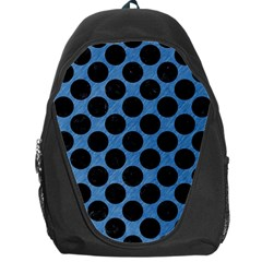 CIRCLES2 BLACK MARBLE & BLUE COLORED PENCIL (R) Backpack Bag