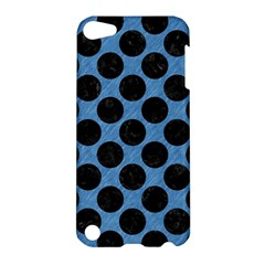 CIRCLES2 BLACK MARBLE & BLUE COLORED PENCIL (R) Apple iPod Touch 5 Hardshell Case
