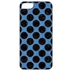 CIRCLES2 BLACK MARBLE & BLUE COLORED PENCIL (R) Apple iPhone 5 Classic Hardshell Case