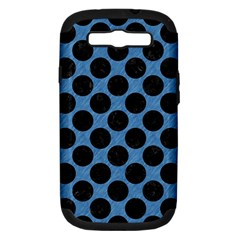 CIRCLES2 BLACK MARBLE & BLUE COLORED PENCIL (R) Samsung Galaxy S III Hardshell Case (PC+Silicone)