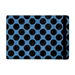 CIRCLES2 BLACK MARBLE & BLUE COLORED PENCIL (R) Apple iPad Mini Flip Case