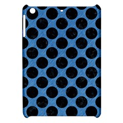 CIRCLES2 BLACK MARBLE & BLUE COLORED PENCIL (R) Apple iPad Mini Hardshell Case
