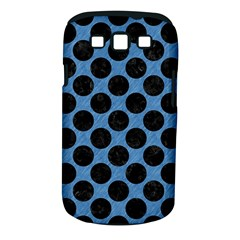 CIRCLES2 BLACK MARBLE & BLUE COLORED PENCIL (R) Samsung Galaxy S III Classic Hardshell Case (PC+Silicone)