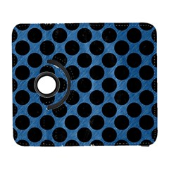 CIRCLES2 BLACK MARBLE & BLUE COLORED PENCIL (R) Samsung Galaxy S  III Flip 360 Case