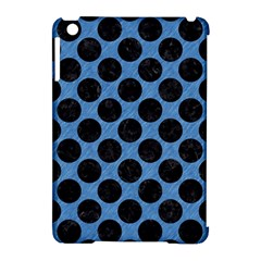 CIRCLES2 BLACK MARBLE & BLUE COLORED PENCIL (R) Apple iPad Mini Hardshell Case (Compatible with Smart Cover)
