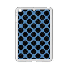CIRCLES2 BLACK MARBLE & BLUE COLORED PENCIL (R) Apple iPad Mini 2 Case (White)