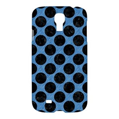 CIRCLES2 BLACK MARBLE & BLUE COLORED PENCIL (R) Samsung Galaxy S4 I9500/I9505 Hardshell Case