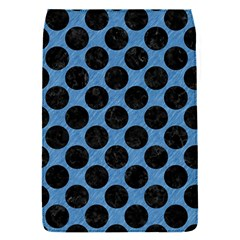 CIRCLES2 BLACK MARBLE & BLUE COLORED PENCIL (R) Removable Flap Cover (S)