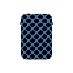 CIRCLES2 BLACK MARBLE & BLUE COLORED PENCIL (R) Apple iPad Mini Protective Soft Case