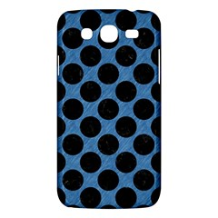 CIRCLES2 BLACK MARBLE & BLUE COLORED PENCIL (R) Samsung Galaxy Mega 5.8 I9152 Hardshell Case