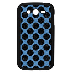CIRCLES2 BLACK MARBLE & BLUE COLORED PENCIL (R) Samsung Galaxy Grand DUOS I9082 Case (Black)