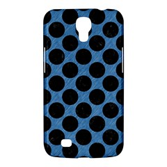 CIRCLES2 BLACK MARBLE & BLUE COLORED PENCIL (R) Samsung Galaxy Mega 6.3  I9200 Hardshell Case