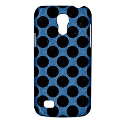 CIRCLES2 BLACK MARBLE & BLUE COLORED PENCIL (R) Samsung Galaxy S4 Mini (GT-I9190) Hardshell Case