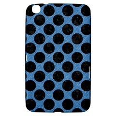 CIRCLES2 BLACK MARBLE & BLUE COLORED PENCIL (R) Samsung Galaxy Tab 3 (8 ) T3100 Hardshell Case