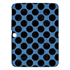 CIRCLES2 BLACK MARBLE & BLUE COLORED PENCIL (R) Samsung Galaxy Tab 3 (10.1 ) P5200 Hardshell Case