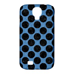 CIRCLES2 BLACK MARBLE & BLUE COLORED PENCIL (R) Samsung Galaxy S4 Classic Hardshell Case (PC+Silicone)