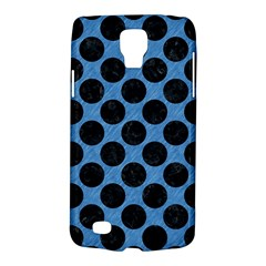 CIRCLES2 BLACK MARBLE & BLUE COLORED PENCIL (R) Samsung Galaxy S4 Active (I9295) Hardshell Case