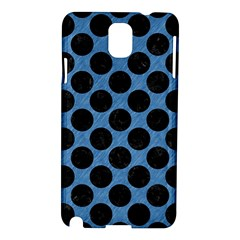 CIRCLES2 BLACK MARBLE & BLUE COLORED PENCIL (R) Samsung Galaxy Note 3 N9005 Hardshell Case