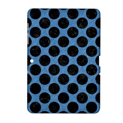 CIRCLES2 BLACK MARBLE & BLUE COLORED PENCIL (R) Samsung Galaxy Tab 2 (10.1 ) P5100 Hardshell Case