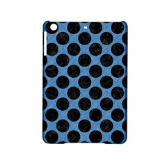 CIRCLES2 BLACK MARBLE & BLUE COLORED PENCIL (R) Apple iPad Mini 2 Hardshell Case