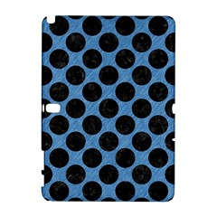 CIRCLES2 BLACK MARBLE & BLUE COLORED PENCIL (R) Samsung Galaxy Note 10.1 (P600) Hardshell Case