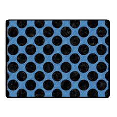 CIRCLES2 BLACK MARBLE & BLUE COLORED PENCIL (R) Double Sided Fleece Blanket (Small)