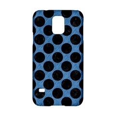 CIRCLES2 BLACK MARBLE & BLUE COLORED PENCIL (R) Samsung Galaxy S5 Hardshell Case