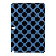 CIRCLES2 BLACK MARBLE & BLUE COLORED PENCIL (R) Samsung Galaxy Tab Pro 10.1 Hardshell Case
