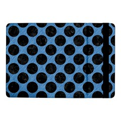 CIRCLES2 BLACK MARBLE & BLUE COLORED PENCIL (R) Samsung Galaxy Tab Pro 10.1  Flip Case