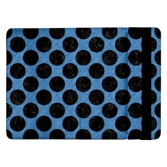 CIRCLES2 BLACK MARBLE & BLUE COLORED PENCIL (R) Samsung Galaxy Tab Pro 12.2  Flip Case
