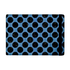 CIRCLES2 BLACK MARBLE & BLUE COLORED PENCIL (R) Apple iPad Mini 2 Flip Case