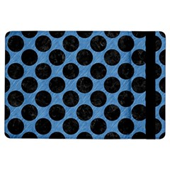 CIRCLES2 BLACK MARBLE & BLUE COLORED PENCIL (R) Apple iPad Air Flip Case