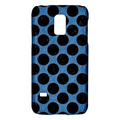 CIRCLES2 BLACK MARBLE & BLUE COLORED PENCIL (R) Samsung Galaxy S5 Mini Hardshell Case